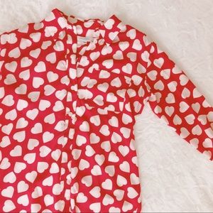 Equipment Tops - {equipment} hearts silk blouse